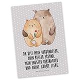 Mr. & Mrs. Panda Postkarte Bären Liebe - Liebe, Verliebt, Verlobt, Verheiratet, Partner, Freund, Freundin, Geschenk Freundin, Geschenk Freund, Liebesbeweis, Jahrestag, Hochzeitstag, Verlobung, Geschenk Hochzeit, Bären, Bärchen, Bär Postkarte, Geschenkkarte, Grußkarte, Karte, Einladung, Ansichtskarte, Sprüche