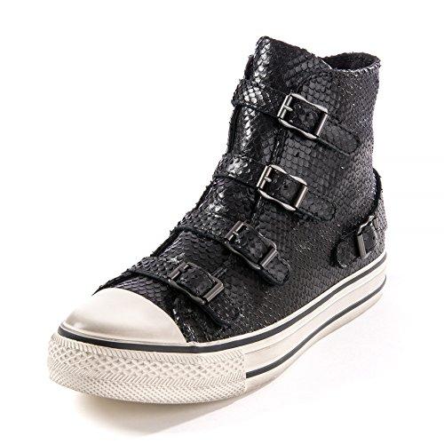 Ash - Virgin Almeria Buckle Trainer Shoe, Black, 4 (37)
