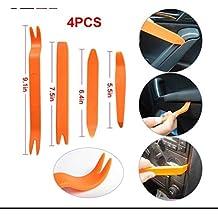 Kit 4Palancas Palanca para desmontar Componentes de plástico carrocería paneles coche herramientas herramientas Desmontaje luz salpicadero Extracción Instalación Radio Audio Estéreo paneles coche vehículo moto