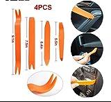 Kit 4 Leve Leva per Smontaggio Componenti in Plastica Carrozzeria Pannelli Auto Attrezzi Utensili Smontaggio Luce Rimozione Installazione Autoradio Cruscotto Audio Stereo Pannelli Auto Veicolo Moto