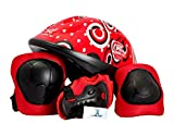 #10: Kamachi Skating/Cycling Protection Equipment Set with Helmet PE-44 Red _C