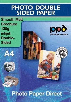 Carta per Brochure e volantini - Inkjet - getto d'inchiostro - Ultra liscia e doppia facciata 130g A4 x 100 fogli * Best Seller *