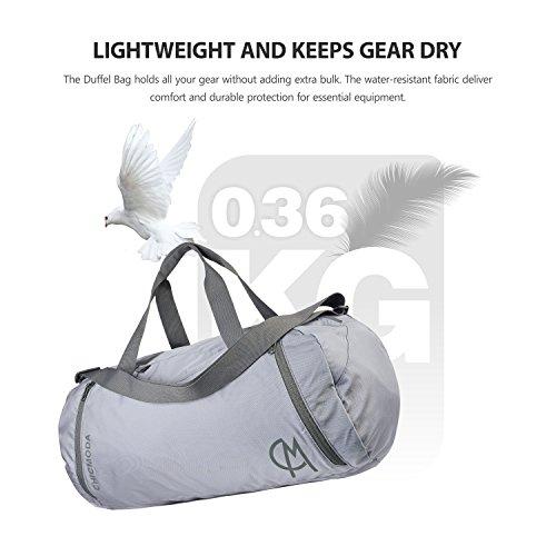 CHICMODA Duffle Bag Wasserdichte Sport Sporttasche leichte faltbare Reisetasche Grau