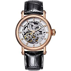 Automatic mechanical watches/Fashion strap waterproof watch/Simple leisure hollow's Watch-C