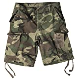 Bermuda Short Paratrooper washed woodland Gr. 3XL
