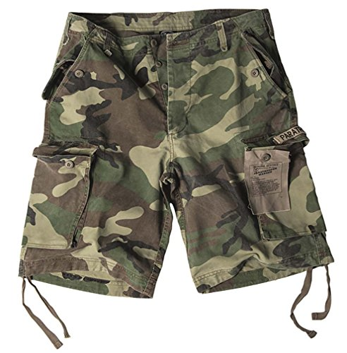 Mil-Tec Bermuda Short Paratrooper washed woodland Gr.XXL