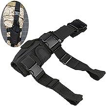 Efanr táctico pierna Holster bolsa ajustable pistola pistola de mano gota pierna muslo Holster arnés revista bolsa paquete de pares de mangas de cintura para Airsoft Paintball Pistola de caza entrenamiento, Negro