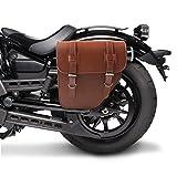 Solo Satteltasche Craftride Honda Shadow VT 750 VT750 C VT750 / Spirit/Black Spirit Texas I 10l braun