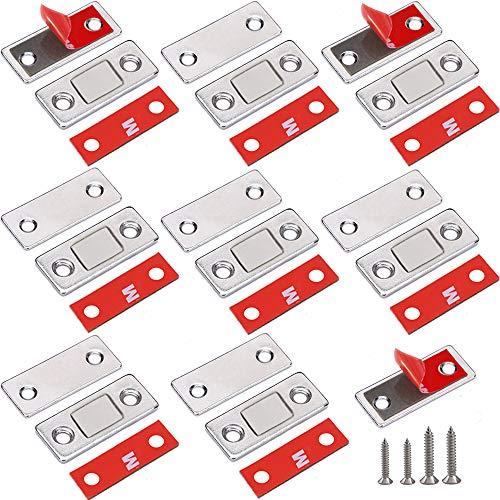 Schranktüren Und Schubladen (Magnetschnäpper Schranktür Magnet Jiayi 8 Pack Ultra Dünn Türmagnet Schublade Selbstklebend Tür Magnetverschluss Magnetisch Türschließer Verschluss Möbelmagnete für Küche Tür Schnäpper Magnetschloss)