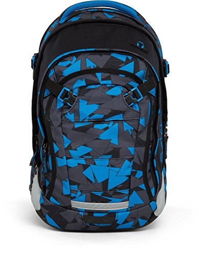 Satch Schulrucksack Match Blue Triangle 9D6 dreiecke blau