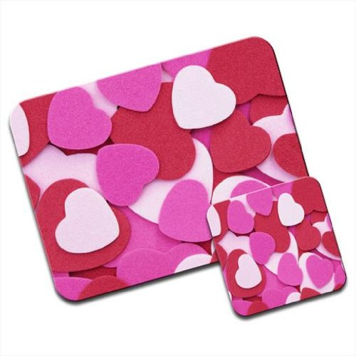 Mousematt mix di tagliare i cuori di Carta Premium & Coaster Set