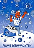 Adventskalender mit Milchschokolade KARLSRUHER SC (120 Gramm / 35 x 25 x 1,5 cm) Limited Fan Edition