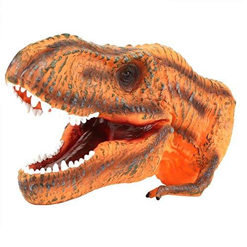 Cabeza Dinosaurio Suave Marioneta Mano Niños Infantiles