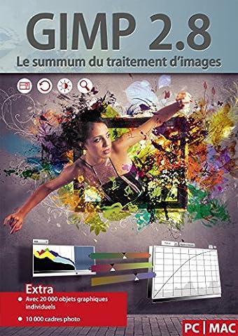 GIMP 2.8 Le summum du traitement d'images - Le pack de logiciel comprend 20000 objets graphiques et 10000 cadres photo - le summum des logiciels de transformation et de traitement d'images - compatible avec Adobe PhotoShop Elements / CS