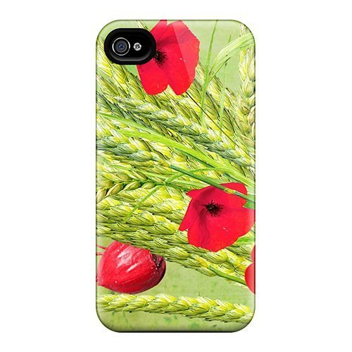 high-grade-gracesfavor-flexible-tpu-case-for-iphone-4-4s-wheat-grass-flowers