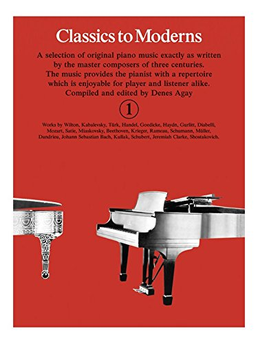 classics-to-moderns-book-1-partitions-pour-piano
