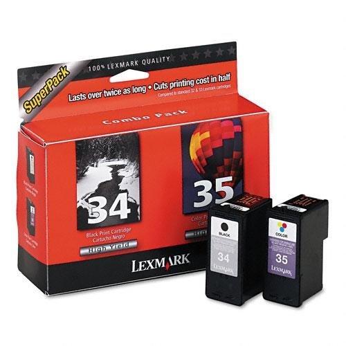 35 Twin Pack (NEW #34 #35 Twin Pack Black & Colo (Printers- Inkjet/Dot Matrix) by Lexmark)