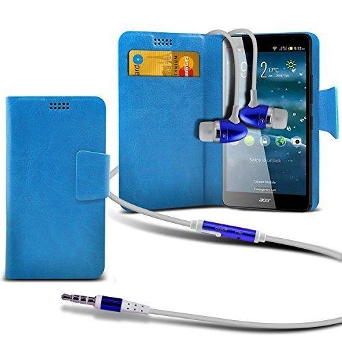 Preisvergleich Produktbild N4U Online - Nokia Lumia 525 Dünne Kunstleder Saugnapfhalter Pad Portemmonaie Schutzhülle mit Guthaben / Bankkarte Karte Steckplätze mit PREMIUM QUALITäT IM OHR Knospen Stereo Freisprechanlage