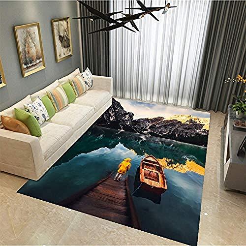 Airxcn soggiorno tappeti e moquette tappeto di grandi dimensioni lavabile in barca canoa lakeside mountain hallway runner area rug -180x280cm