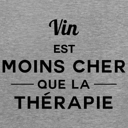 Vin est moins cher que la thérapie - Femme T-Shirt - 14 couleur Gris
