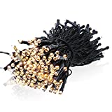 8Modes 21M 200LEDs EarMe Solar Power Warm White Outdoor String Fairy Lights, IP65 Waterproof Solar Ambiance Lighting for Gardens, Patio, Yard, Homes, Christmas Party & Tree, Holiday Party