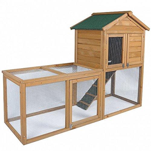 Eugad 0038ht gabbia per conigli criceto conigliera da esterno giardino casa per piccoli animali in legno di abete