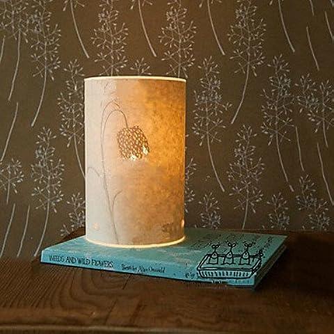 bobo Lámpara de mesa 1 luz retro pergamino pantalla