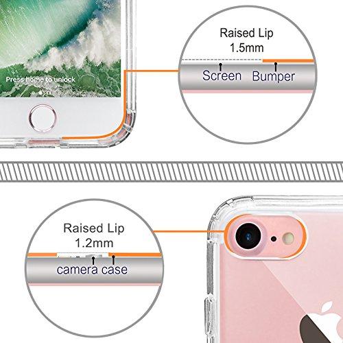 iPhone 8 Hülle, iPhone 7 Hülle, MOSNOVO Tropisch Palmblatt Muster TPU Bumper mit Hart Plastik Hülle Durchsichtig Schutzhülle Transparent für iPhone 7 (2016) / iPhone 8 (2017), iPhone 7 / 8 Case Forest