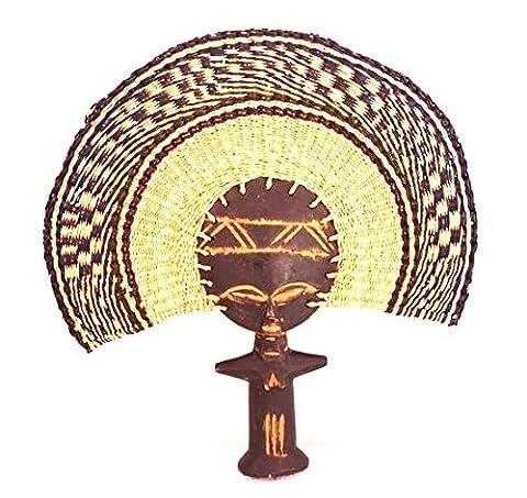 AFRIQUE ART DECORATION-Eventail poupée fécondité Ashantie-7886