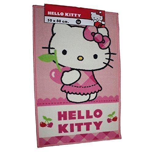 Hello Kitty Cherry cerezas rosa impresión alfombrilla de puerta dormitorio alfombra RECTANGULAR alfombra 50x 80cm