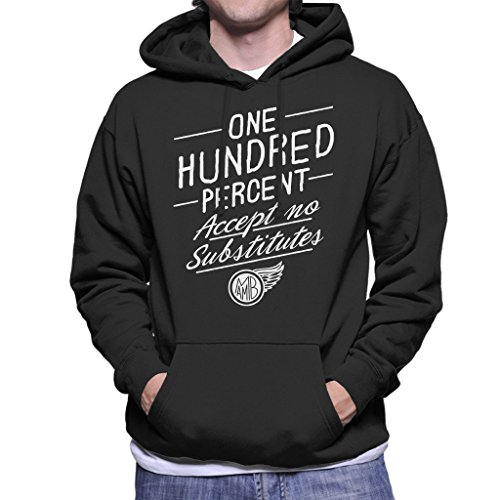 Mambo Accept No Substitutes White Text Men's Hooded Sweatshirt Black