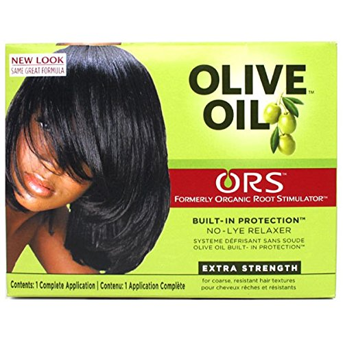 Relaxer / Glättungscreme Organic Root Stimulator Olive Oil Built-In Protection No-Lye Hair Relaxer System Extra Strength - Creme Hair Relaxer