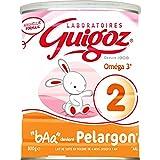 Guigoz Pelargon 2 - Lait Infantile en Poudre de 6 à 12 Mois - 800g - Pack de 6