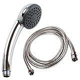 Duschkopf mit Schlauch von SANIXA | Duschbrause Set ABS verchromt mit Duschschlauch 150cm Duschsysteme Hand-Brause mit Brauseschlauch und Brausekopf Brausegarnitur Duschset | Badezimmerausstattung