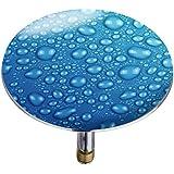 Wenko 21844100 Badewannenstöpsel Pluggy XXL Waterdrops, Abfluss-Stopfen, für alle handelsüblichen Abflüsse, Kunststoff, 7,5 x 6 x 7,5 cm, mehrfarbig
