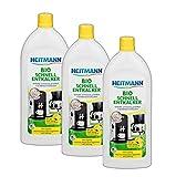 Heitmann Bio Schnell Entkalker: Reinigung von Elektrogeräten, Kaffeemaschinen, Espressomaschinen, Wasserkocher, 3×250ml