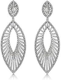 SHAZE Silver Sunray Earrings|Earrings For Women|Earrings For Women Stylish