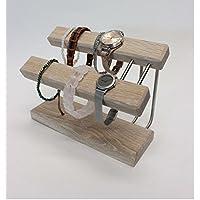 Uhrenhalter Armbandhalter Schmuckhalter Schmuckständer Handarbeit Eiche weiß geölt.