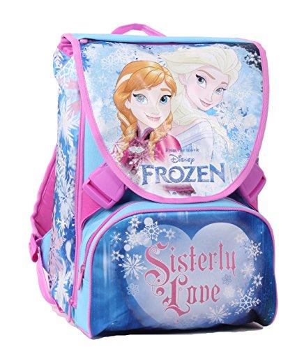 Zaino da Scuola Frozen - Sdoppiabile, Estensibile, Poliestere, Multicolore