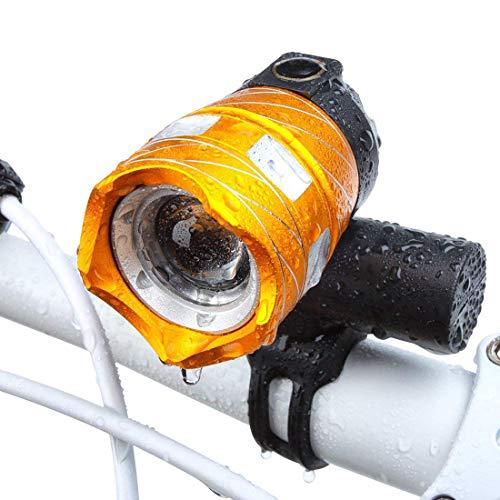 ZOUQILAI Luz Recargable de la Bicicleta del USB Potente Foco Ajustable de la Bici Faro Impermeable fácil de Instalar para Mountain Road Cycling