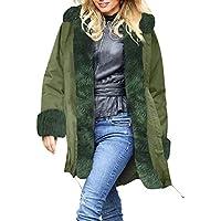 Geilisungren Damen Mantel Lang Wintermantel Jacke mit Kapuze und Kunstpelzkragen Warmes Fauxpelz Parka Militärjacke... preisvergleich bei billige-tabletten.eu