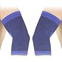SODIAL (R) 2 Stueck Blau Schwarz Sportbekleidung Ellenbogenschutz preisvergleich bei billige-tabletten.eu