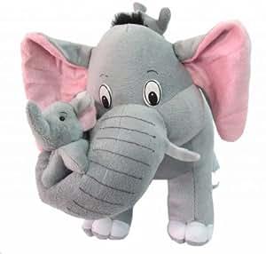 Tickles Cute Elephant with two babies Stuffed Soft Plush Toy Kids Birthday 55 cm