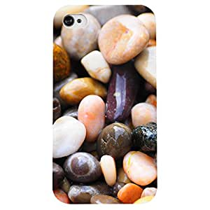 I phone 4/4s Pebbles Printed back cover