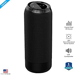ZAAP BOOMBOX Bluetooth Wireless speaker with Built-In Microphone, 15 Hours Playtime/33-Foot Bluetooth Range/3D Bass,12-Watts/Award winning Design for Outdoor/Desktop & Sports (Black)