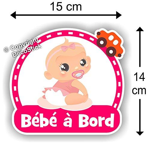 Sticker Bébé à bord Fille - Autocollant bébé à bord fille