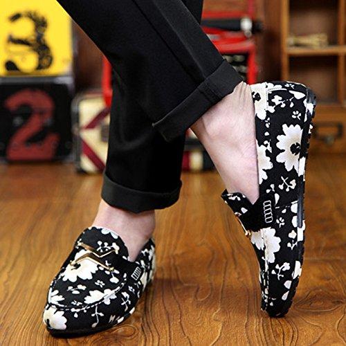 CHNHIRA Homme Chaussures de Loisir Chaussures Basses à Enfiler Noir