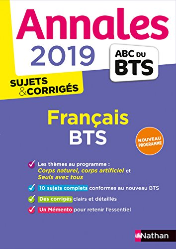Annales BTS 2019 Français par Claire Sani