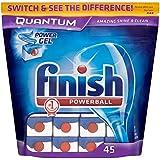 Finish Quantum Powerball Lave-vaisselle comprimés (45) - Paquet de 6
