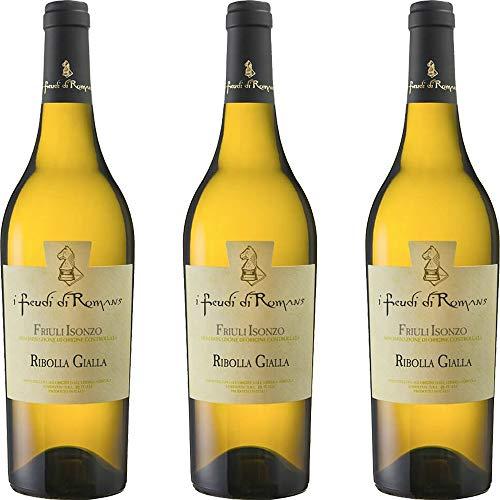 Ribolla Gialla IGT | Friuli Isonzo | I Feudi di Romans | Vino Bianco Tipico del Friuli | 3 Bottiglie 75 Cl | Idea Regalo
